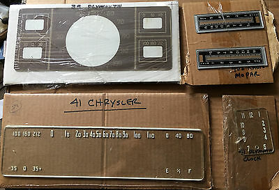 NOS 1939 Plymouth Dash Cluster Face plate  - Only one - 2 Available