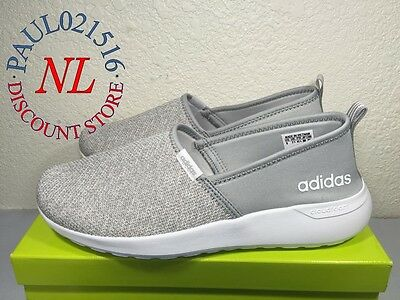 Adidas Women's Neo Lite Racer Slip On Shoes Cloudfoam ~ Gray ~ Various Sizes @@@