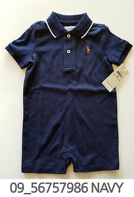 Polo Ralph Lauren Baby Toddler Clothing Romper 3/6/12/18 Months New w Tag #09