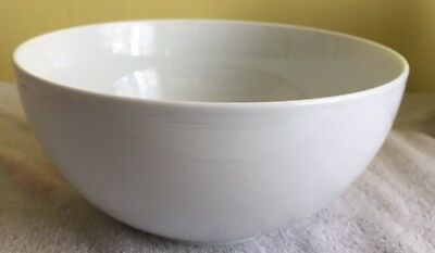 "Thomas Rosenthal Porcelain White Loft Bowl, 9"" made in Germany"