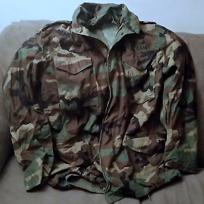 Us Army Iraq Era Bdu  Cold Weather Field Jacket - Lined With Pull Out Hood