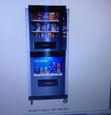 Very Nice Rc-850 Combo Combination Snack / Soda Automatic Vending Machine