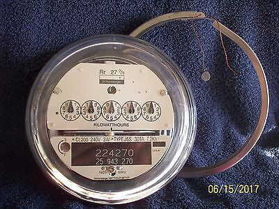 Schlumberger Residential Electric Meter 200 amp 240 volt Good Working Condition