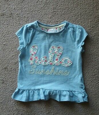 Boots Mini Club Blue Short Sleeve Top Size 18-24 Months