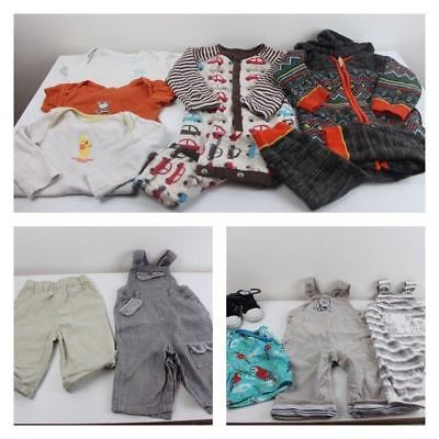 Boys 6-9 Months Clothing Bundle New Shoes Dungarees Shorts