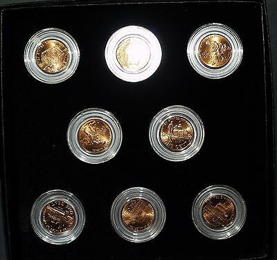 2009 P & D Lincoln Cent 8 coin set - ALL FOUR REVERSES - BU in case