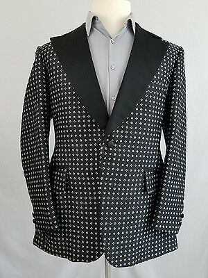 Lord West tuxedo jacket 42R Black Vintage Dinner Coat 1 Button 2 Vent N12
