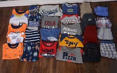 Baby boy huge lot 12 month carters, cat & jack, baby gap, jumping bean 27 pieces