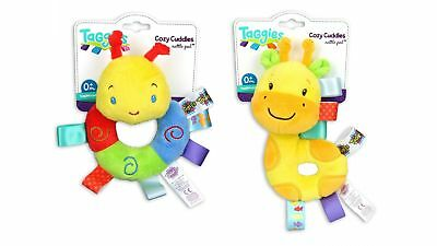 Taggies Cozy Rattle Pal Toy with Adorable Plush Figure & Fun Rattle Sounds