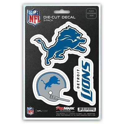 NFL Detroit Lions Team Decal - Pack of 3