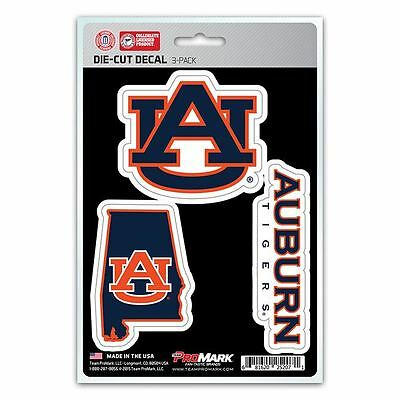 NCAA Auburn Tigers Team Decal - Pack of 3