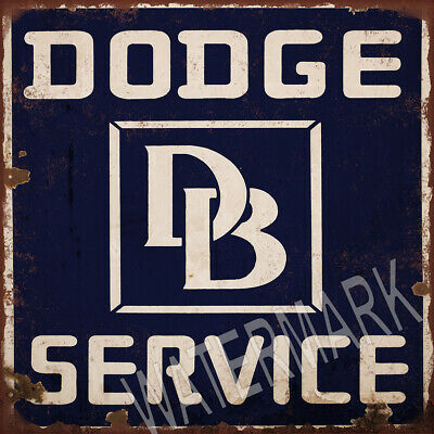 Dodge Service Ad Square High Quality Metal Magnet 4 x 4 inches 9351