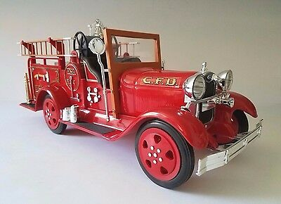Vintage JIM BEAM Decanter 1930 Model A Ford Fire Truck ~ VG Condition