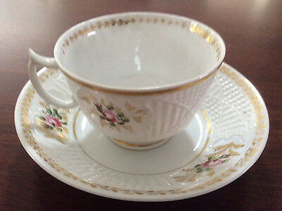 Vintage English cup and saucer  c1830 - beautifully decorated