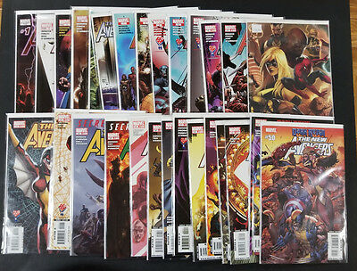 New Avengers comic lot Issue: 1, 2, 3, 4, 5, 6, 7-14, 15, 45-49, 50-55,Variants!