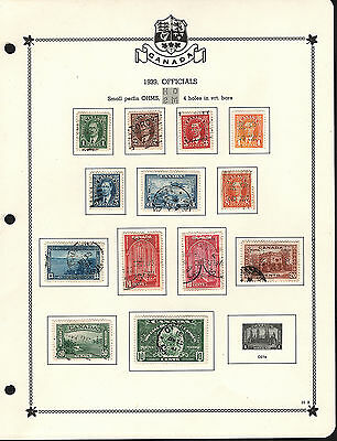 OPC Canada Small 4 Hole OHMS Perfin Mint No Gum 3 Page Used Collection of 29