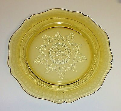 """1200~Vintage Federal Glass Amber Patrician Depression Glass Dinner Plate 11"""""""