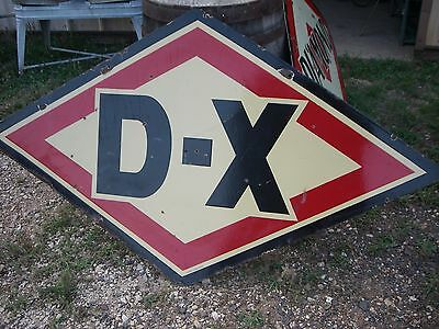 "RARE BABY DX  PORCELAIN DOUBLE SIDED SIGN GAS OIL 68"" X 38"" Tulsa"