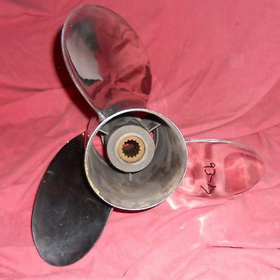 Quicksilver Laser 2 13 3/4 x 21 Stainless Steel Propeller Mercury Bravo 1 (93-17