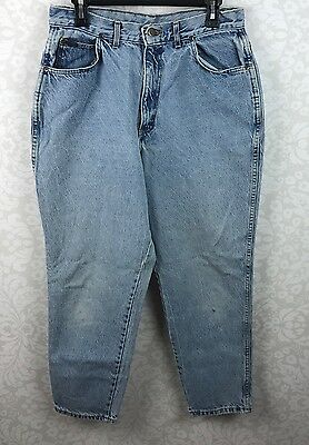 Vintage Chic High Waisted Womens Size 18 Mom Tapered Leg Light Wash