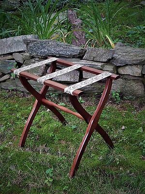 Vintage Scheibe Wood Folding Luggage Rack Guest Room Stand