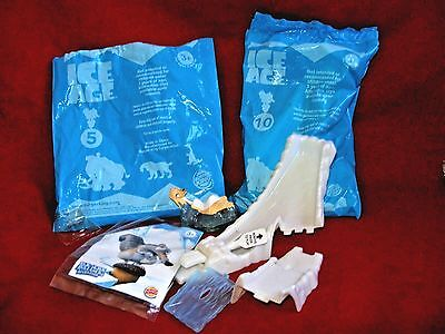 BURGER KING KIDS MEAL TOY : ICE AGE #10 - 2002 NEW / SEALED & #5 Open