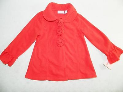 Kids Headquarters Girls Red Coat 100% Polyester NWT Size 4T