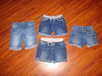 Lot Of 4 Justice Girls Size 12R Denim Jean Shorts