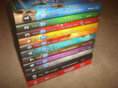 The 39 Clues Complete Series Set BOOK LOT 1-11 Rick Riordan Kids HARDCOVER HC