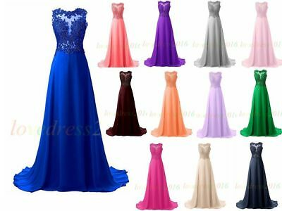 New Long Prom Dress Bridesmaid Cocktail Evening Party Ball Gowns Stock Size 6-22