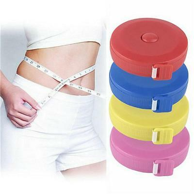 """60"""" Retractable Flat Tape Measure for Tailor Sewing Cloth Body Measuring RulerWh"""