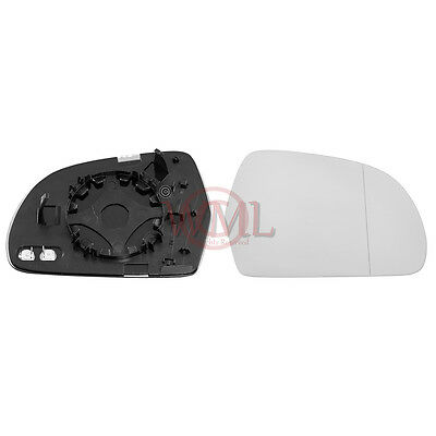 Audi A4  Wing Mirror Glass Silver RHS Aspherical,Heated/&Base 2008 to 2012
