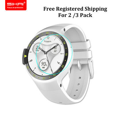 For Ticwatch S Real Tempered Glass Screen Protector Film Guard Round Smart Watch