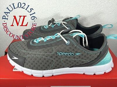 Speedo Ladies Hybrid Watercross Shoes ~ Gray Color ~ Various Sizes & Condition !