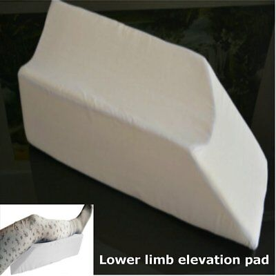 White Lower Limb Elevation Pad Wedge Bed Pillow Elevating Leg Foot Rest Support