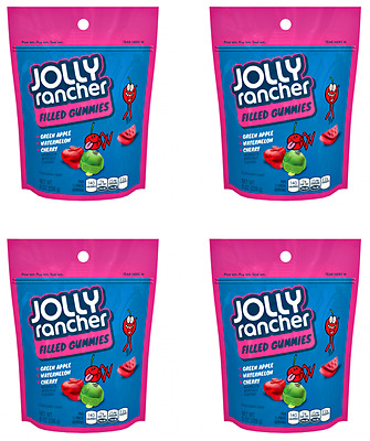 911383 4 x 226g POUCHES OF JOLLY RANCHER FRUIT FLAVOURED FILLED GUMMIES! USA