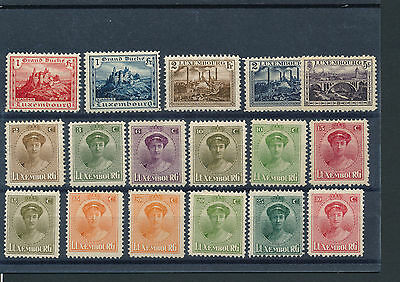 Zu012 Luxembourg Collection Lot Of Mh Stamps
