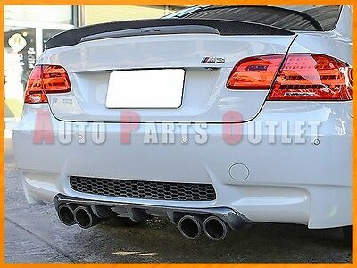 08-12 BMW E92/E93 M3 Only V-II Style Carbon Fiber Add-On Rear Bumper Diffuser