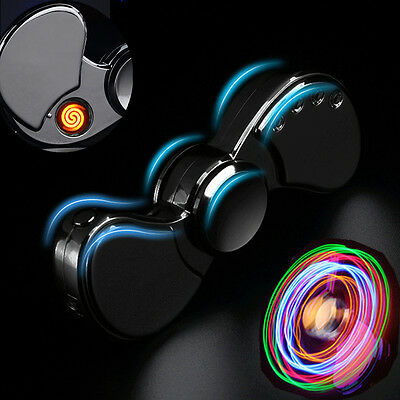 Elektrisch Fidget Spinner Hand Gyro Pocket Feuerzeug Auto USB Charge Anti Stress