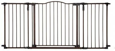 Child Baby Safety Gate Panel Double-Locking System Heavy Duty Metal Construction