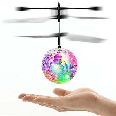 Electric RC Fly Ball Infrared Induction Aircraft Flash LED Light Remote Toy 2017