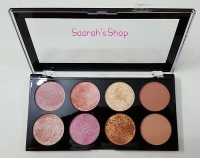 Makeup Revolution Blushes Highlighter Bronzer Palette GOLDEN SUGAR 2 Rose Gold