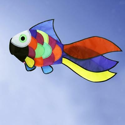 Rainbow Goldfish Single Line Kite Windsock Outdoor Garden Kids Outdoor Toys