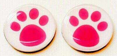 anneys ~TWO - GOLF  BALL  MARKERS - pink paws ~