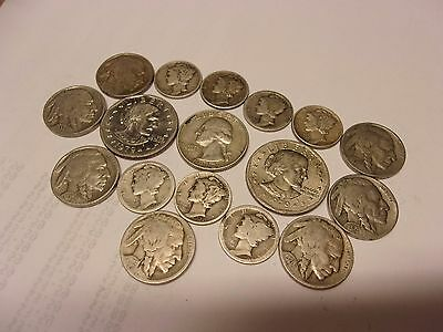 Mercury Dimes  & Mixed 17 Coin Lot