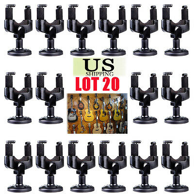 Guitar Wall Mount Hanger Stand Holder Hooks Display Acoustic Electric Bass LOT