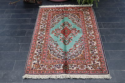 Vintage Turkish Silk Rug 3 x 4.4 ft (90 x 133cm) NO 1036