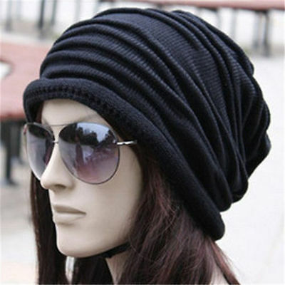 Dreadlock Slouch Winter Baggy Knit Crochet Beanie Hat Ski Cap