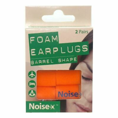 Noise-X Foam Barrel Shape Earplugs 2 Pairs 1 2 3 6 12 Packs