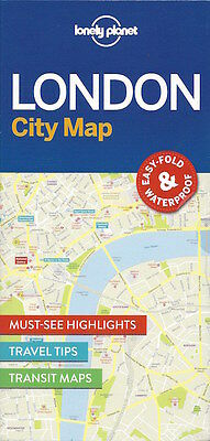 Lonely Planet London City Map (England) *FREE SHIPPING - NEW*